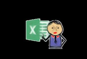 handgemalter Junge neben Excel-Icon